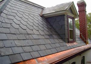 image of slate roofing on home