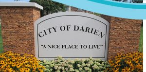 Photo shows sign of Main Street GC Inc service area city Darien Illinois