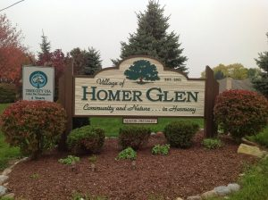 Photo of Homer Glen Village sign - Main Street Roofing